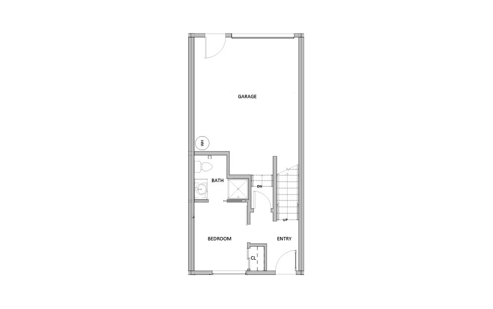 Large Townhome - 3 bedroom floorplan layout with 3 baths and 1455 square feet. (Floor 1)