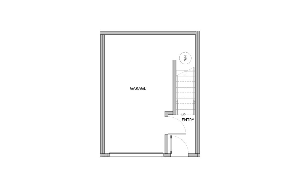 Small Townhome - 3 bedroom floorplan layout with 3 baths and 1195 square feet. (Floor 1)